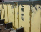 耐震発泡壁 全面メッシュ貼り状況